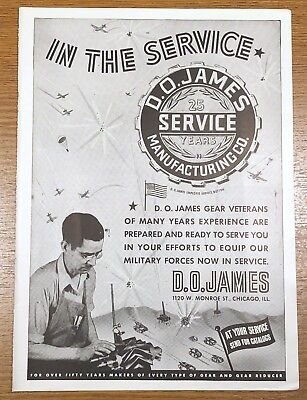 WW2 Chicago Tribune Advertisement D.O. James Manufacturing Gears