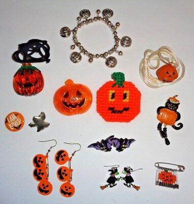 Halloween Jewelry Lot of 12 Pieces