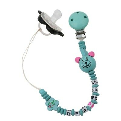 Nature Wooden Baby Dummy Pacifier Clip Beads Chain Holder Soother Nipple Strap