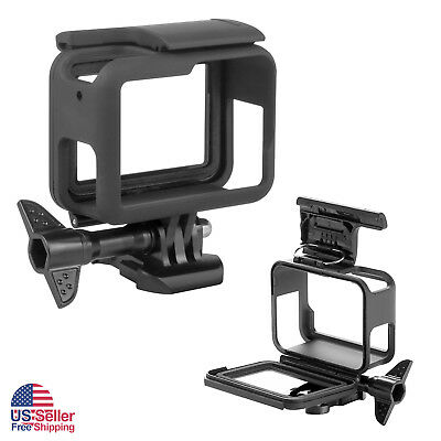 Frame Mount For GoPro HERO 5/6 Black Housing Protective Cover Case Lens Cap