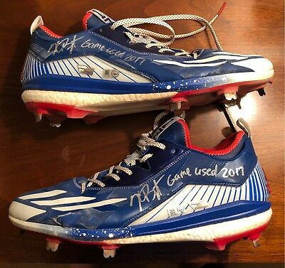 Kris Bryant Game Used Auto Worn 2017 Cleats Chicago Cubs WS Champs MVP MLB  Holo 472022bbb