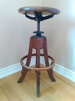 antique steampunk drafting stool