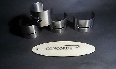 British Airways Concorde napkin rings Stainless Steel