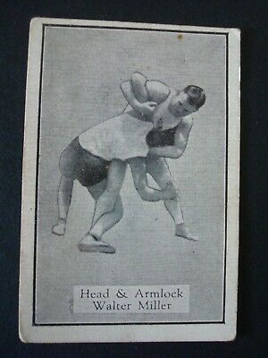 Allen's Wrestlers Trading Card - Head and Armlock - 1926