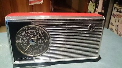 Retro Red Awa Radiola Vintage Transistor Radio Made In Australia