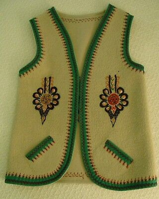 Polish Gorale Vest Made in Poland with Pockets & Embroidery Hand Made