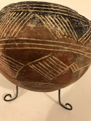 Rare Early Cypriot Hand Incised Terracotta Bowl Circa 1050-900 BC