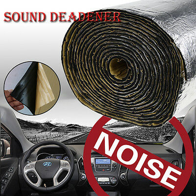 "32sqft 118""x39"" Hood Door Firewall Sound Deadener Heat Insulation Deadening Mat"