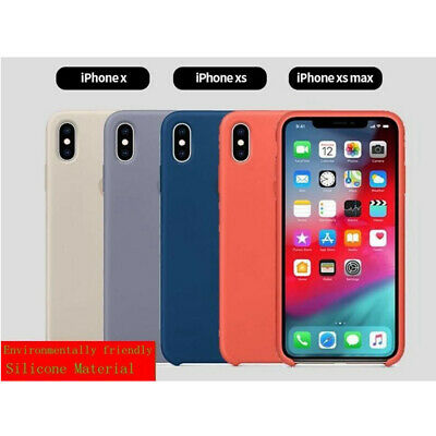 Luxury Original Silicone Phone Cover Ultra-Thin Back Case For iPhone XS Max XR