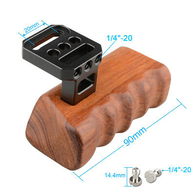 CAMVATE DSLR Wooden Handle Grip Right 1/4-20 Mount for RED Camera Cage Video Rig