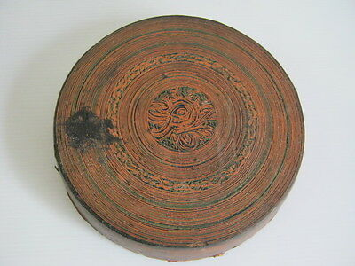 Antique Burmese handmade  lacquer ware -betel storage tray