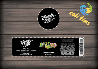 10x Jungle Boys Cali Tin JAR Labels Stickers 60ml