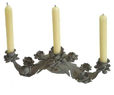 style ancien bougeoir chandelier candelabre en fer de table console a bougie