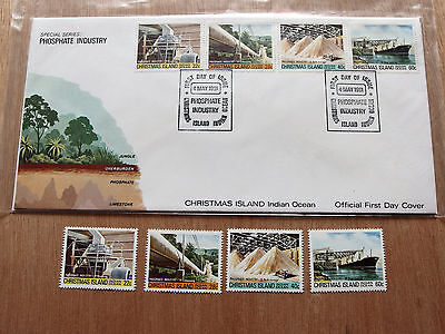 Christmas Island -1981 - Phosphate Industry (final issue) MNH stamps + FDC