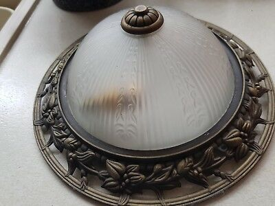 Antique  x 2 flush ceiling lights with detail edging's fab up!!