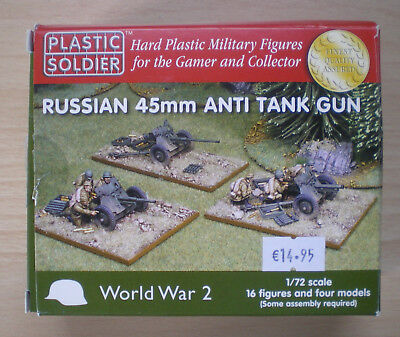 Plastic Soldier: Russian 45mm Anti Tank Gun (WW2G20001) Neu & OVP