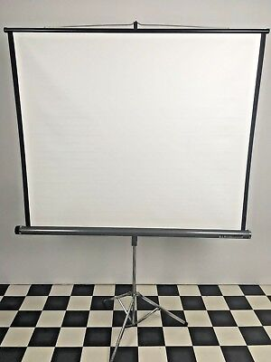 "New Stalit Lenticular 50"" x 50"" Slide Projector Screen in Original Box Vintage"
