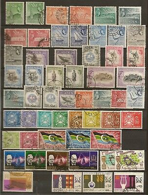 Aden 1953-63 Set To Of (25) To 20/- Sg48/72 Used Plus Some Southern Arabian Fede