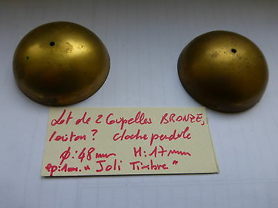 lot de 2 coupelle bronze , laiton ?? cloche pendule ancienne sonnette sonnerie