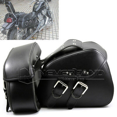 Motorbike Motorcycle Leather Luggage Saddle Sissy Bags Pannier Side Tool Box