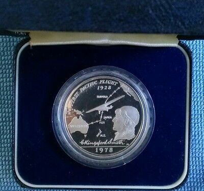 1978 Western Samoa Kingsford Smith First Pacific Flight  $1 Silver Proof Coin
