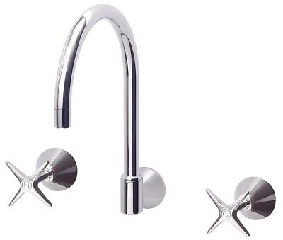 Sussex 3001 WALL SINK SET 7.5Litres/Min Chrome *Australian Made