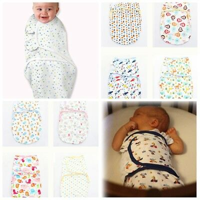 100% Cotton Soft Baby Infant Swaddle Wrap Blanket Sleeping Bag for 0-6 Month NEW