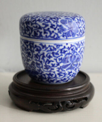 An Antique Chinese Cylinder Pot with Lid, Two Character Seal Beneath