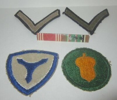 WW2 Military Patch Pin Lot Insignia Badge 87th Infantry Bar Pin 3 Star 3rd Army