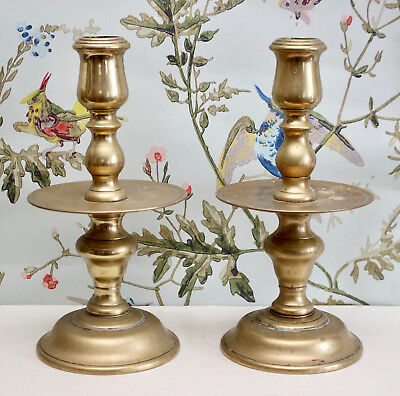 A Fine Pair of Antique Dutch Heemskerk Candlesticks
