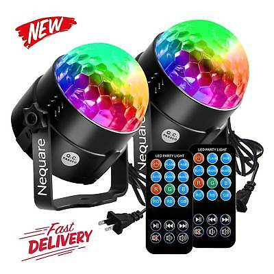2-PACK Nequare Party Lights Sound Activated Disco Ball Strobe Light 7 Color NEW