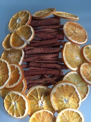 10 Cinnamon Sticks & 10 Orange Slices Craft Wreath Florist Table Xmas Decoration