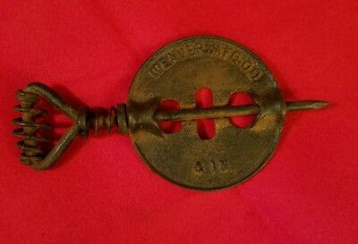 Vintage Antique Weaver Mfg. Co. Coal Stove Vent Key