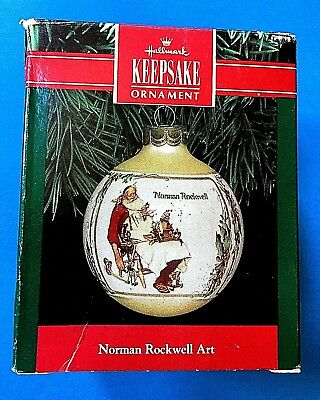 "Hallmark ""Norman Rockwell Art"" Ball Ornament 1991"