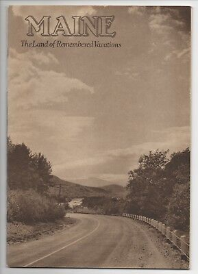 Vintage Travel Booklet: Maine The Land of Remembered Vacations