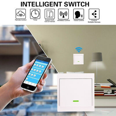 WiFi Mobile Remote Voice Control Smart Home Wall Power Switch  Control Panel