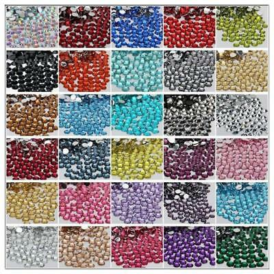5000P Crystal Flat Back Rhinestones Gems Diamante Bead Nail Art Crafts 2-6MM #06