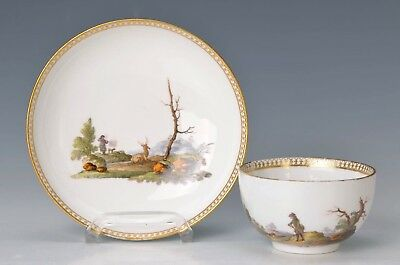 A very good quality MEISSEN Cup with Saucer  around 1774-1814