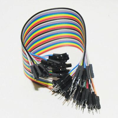 40pcs 20CM 2.54mm Dupont Cable Male To Female For Arduino DIY KIT Row Breadboard