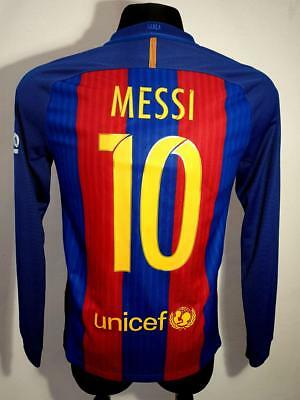best sneakers a0129 fc2bc BARCELONA FC 2016 2017 Home Spain Nike Football Shirt Jersey Long Messi #10