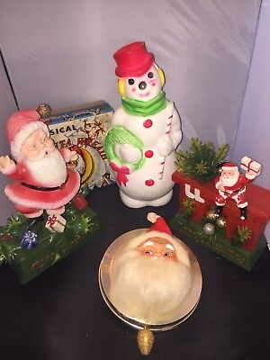 4 VINTAGE Christmas Decorations