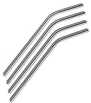 6 x Bent Stainless Steel Reusable Straws Metal Drinking Straw  Stylish...
