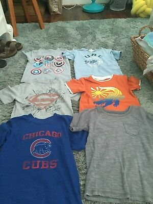 Lot of 6 Boys T-shirts size 4T and 5T