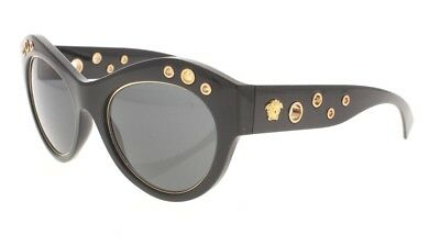 355a54d336fa Versace VE 4320 GB1 87 Polished Black   Gold   Gray Gradient Womens  Sunglasses