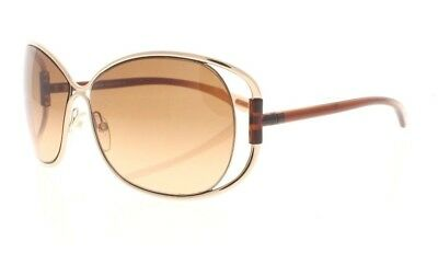 fbcf0f583a1 TOM FORD EUGENIA TF 156 28F Gold   Brown   Brown Gradient Sunglasses NWC  AUTH