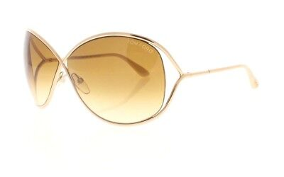 78985c30af3 Tom Ford Miranda TF 130 28F Gold and Ivory   Brown Gradient Womens  Sunglasses