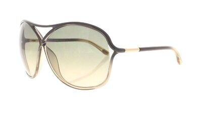 Tom Ford Vicky TF 184 20B Black and Gold / Green Gradient Women's Sunglasses