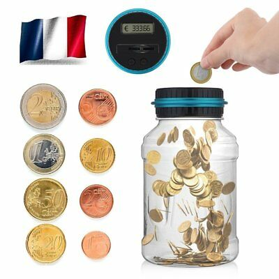 Numérique LCD Tirelire Automatique EUR Coin Comptant Money Box Enfants Adulte