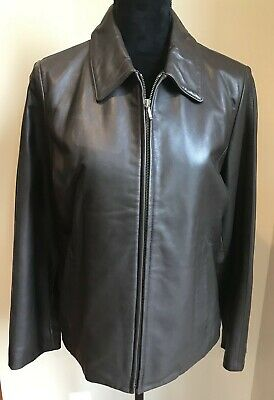 39d11717f36 Genuine Lambskin Leather Jacket Eddie Bauer Zip front Coat Women s Size  Small