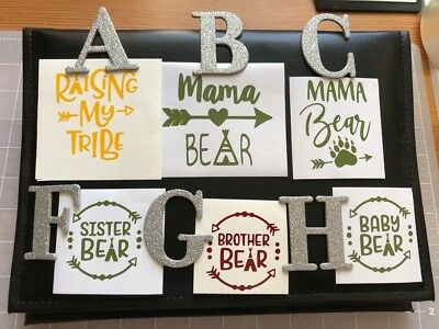 Decals RAISING MY TRIBE/MAMA/BABY/BROTHER/SISTER BEAR Choose Option/Size/Color